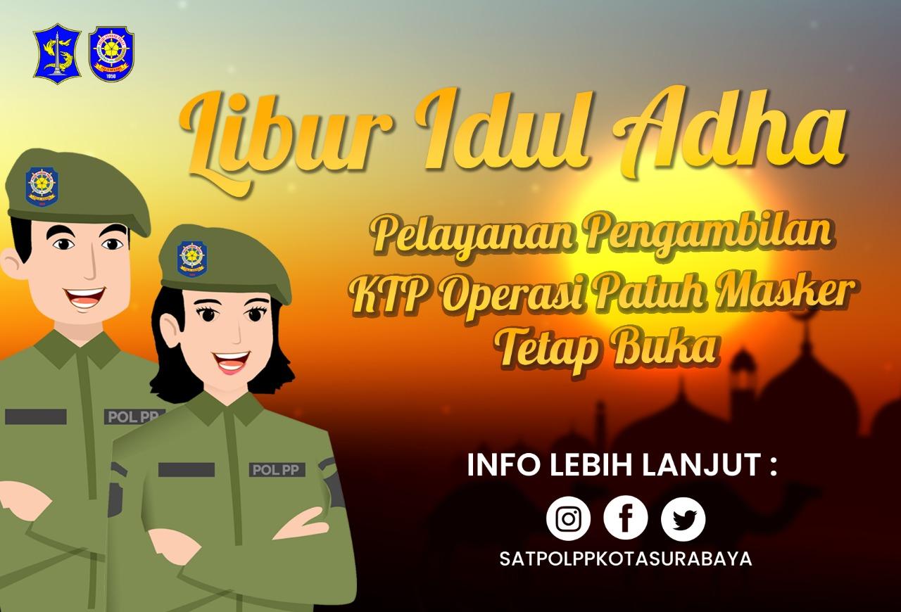 Walaupun Besok Libur, Satpol PP Surabaya Tetap Layani Para Pelanggar